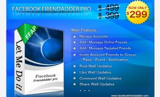 Facebook FriendAdder Pro screenshot