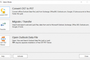 OST2 PST Converter screenshot