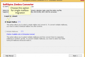 Zimbra Batch Import to Outlook screenshot