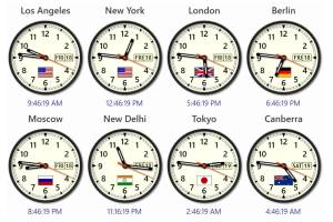 Sharp World Clock screenshot