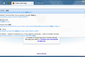 Firefox 11 screenshot