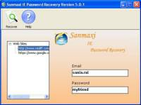 Sanmaxi IE Password Recovery screenshot