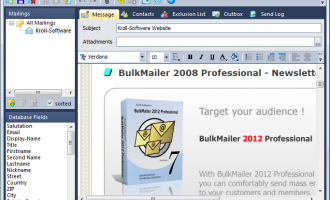 BulkMailer Professional screenshot