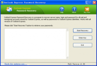 Outlook Express Password Recovery screenshot
