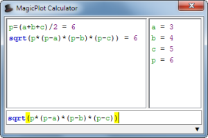 MagicPlot Calculator screenshot