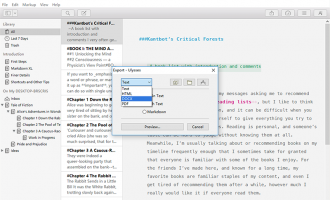 Ulysses Markdown to DOCX screenshot