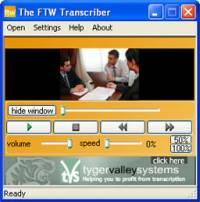 The FTW Transcriber screenshot