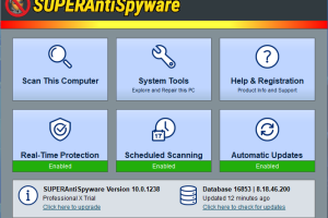SUPERAntiSpyware Professional Edition screenshot