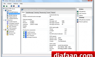 Diafaan SMS Server - full edition screenshot