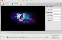 Doremisoft Mac SWF to MOV Converter screenshot