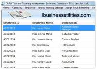 Business Tour Training Planner screenshot