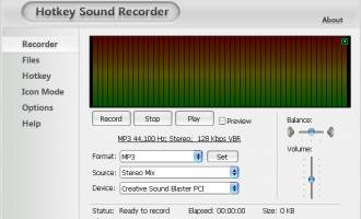 Hotkey Sound Recorder screenshot