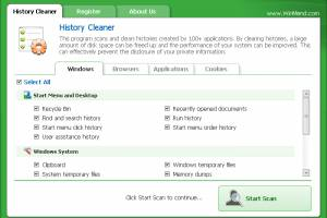 WinMend History Cleaner screenshot