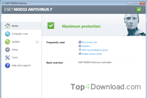 NOD32 Antivirus (64 bit) screenshot