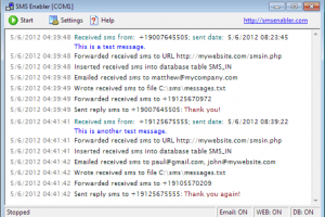 SMS Enabler screenshot