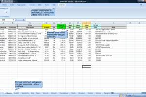 RemodelCOST Estimator for Excel screenshot