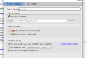 Adobe AIR SDK for Mac OS X screenshot