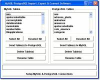 MySQL PostgreSQL Import, Export & Convert Software screenshot