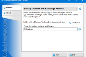 Backup Outlook and Exchange Folders screenshot