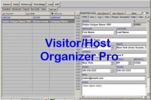 Visitor/Host Organizer Pro screenshot