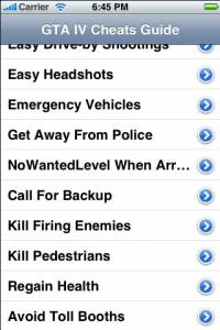 GTA IV Cheats screenshot