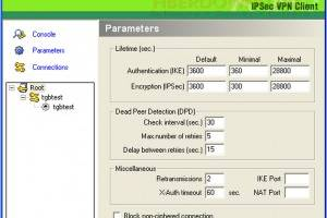 TheGreenBow IPSec VPN Client screenshot