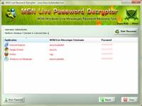 MSN Live Password Decryptor screenshot