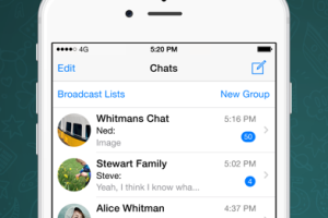 WhatsApp for iOS screenshot
