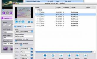 iMacsoft DVD to MP4 Suite for Mac screenshot