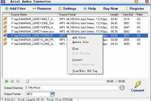 Arial Audio Converter screenshot
