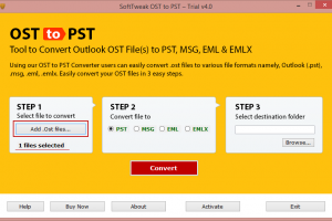 Microsoft OST to PST Converter screenshot