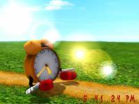 Funny Clock 3D Screensaver screenshot