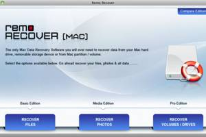 Remo Partition Recovery Software Mac screenshot