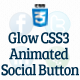 Glow Animated CSS3 Social Button