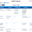 ApPHP Events Calendar Web Control