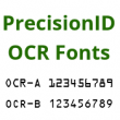 PrecisionID OCR Fonts